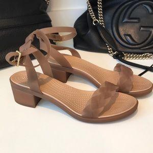 Never worn crocs dual comfort sandals